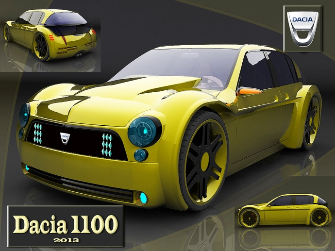Concept car dacia 1100 by cipriany