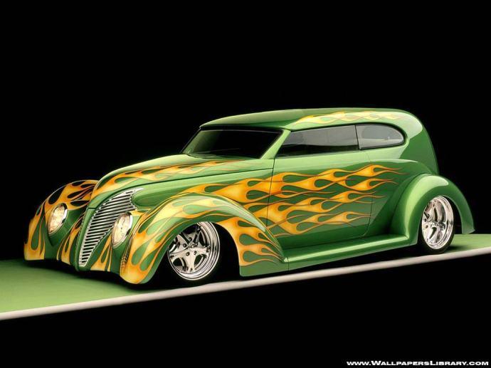 green-hotrod-wallpaper-320