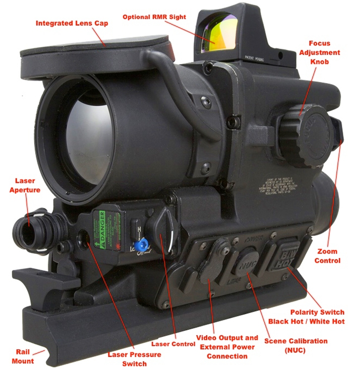 FLIR-T60_with_Trijicon_RMR_clip-on-thermal-rifle-scope_button_layout_configuration